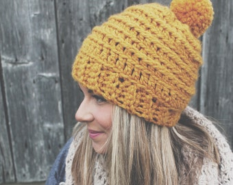Crochet PATTERN//theCAMPERbeanie//hat pattern//Fireside Stitches