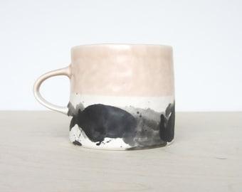 Pinched Splatter Mug - Peach - Ready to Ship