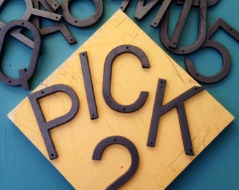 Choose Two 5 Inch Metal Letters or Numbers