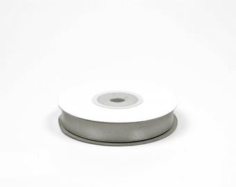 12mm - spool of 25 meters of ref 012 light grey satin ribbon