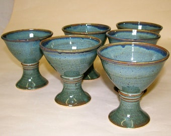 Hand-thrown Drinking Goblets - set of 6