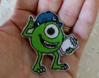 Iron On Patch  Green Mike Monster Inc Embroidery NEW