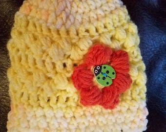 Hat: crochet newborn infant One of a Kind - free ship
