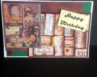 Birthday, masculine-This is definitely a card for the world traveler, or anyone who wishes to travel
