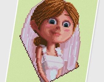 PDF Cross Stitch pattern - 0074.Ellie (wedding) - INSTANT DOWNLOAD