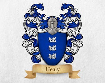 Healy Family Crest - Print