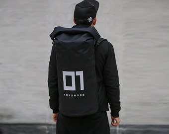 Backpack / Roll Top Backpack / Bike Backpack / Black Backpack / Travel Bag / Messenger Bag / Men Backpack / Rolltop Backpack /Minimalist Bag