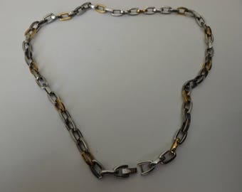 STEL™ 22 Inch Stainless Steel and Yellow two tone Ion Plated Necklace  stainless steel