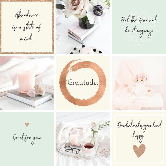 Blog-Vorlage Blog Kit Blogger Instagram Grafik lila