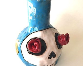 Cuteware Rosy-eyed Skull Bottle for Poisons or Antidotes