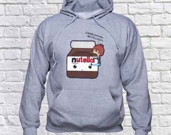Nutella sweatshirt/ Nutella Fan hoodie/ Nutella Jar pullover/ sweater/ jumper/ Chocolate/ birthday gift/ hoody/ Nutella gift/ Nutela/ (B44)