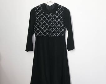 vintage 90s wednesday addams black dress (small) – free us shipping