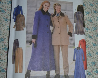 Simplicity 7838 Misses / Miss Petite Coat or Jacket and Pants  Sewing Pattern - UNCUT - Size 12 14 16
