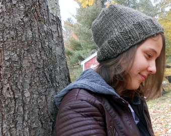 Hand Knit Chunky Slouchy Hat