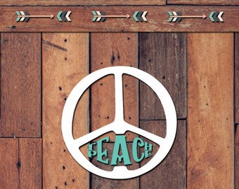 Teach Peace Decal | Yeti Decal | Yeti Sticker | Tumbler Decal | Car Decal | Vinyl Decal