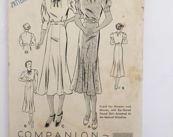 Vintage Butterick dress pattern 7261