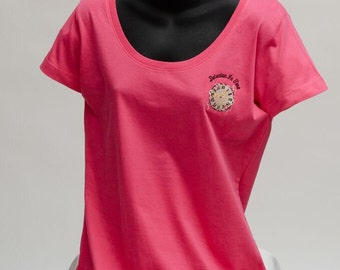 Short Sleeve Scoop Neck Tee - Detection In Time: Breast Cancer Awareness