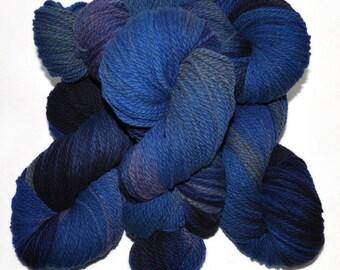 Hand dyed yarn - Columbia Wool yarn, Worsted weight, 170 yards - Nerthus