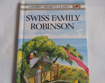 Swiss Family Robinson Ladybird Children's Classics Vintage book 1980s