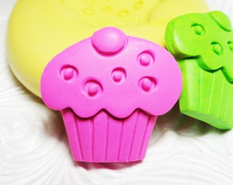 Cupcake Mold Flexible Silicone Push Mold for Resin Wax Fondant Clay Fimo Ice