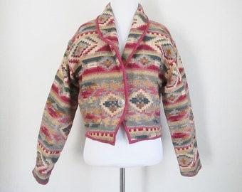 Southwestern Jacket Tapestry Jacket Lightweight Coat 90s Jacket Southwest Style Cowgirl Jacket Cowboy Coat Ranch Coat