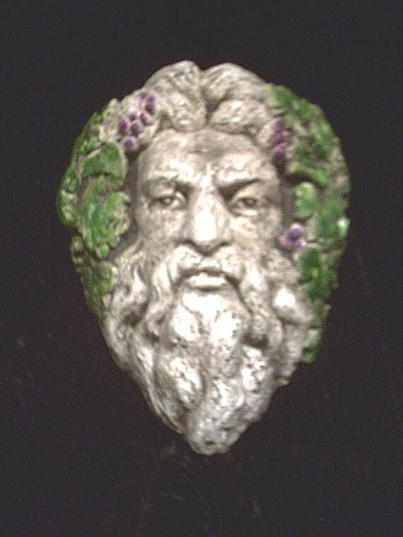 Bacchus Gothic Greenman Wine God Grape Myth Fantasy Greek