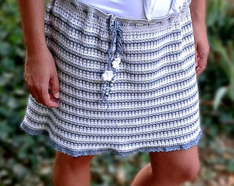 Crochet pattern - Ripple skirt crochet pattern. Crochet flower skirt. Permission to sell finished items. Pattern No. 208