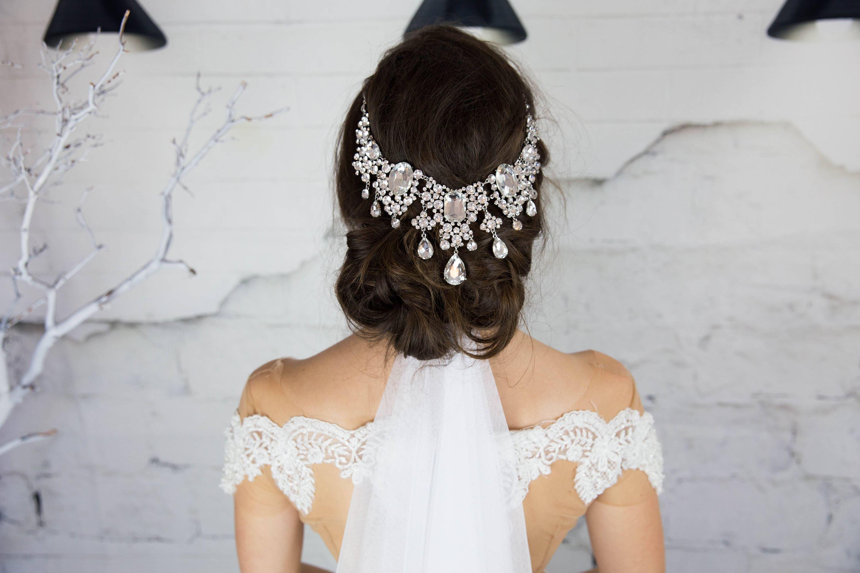 Crystal Bridal Headpiece, Large Hair Comb, Wedding Head Piece ...
