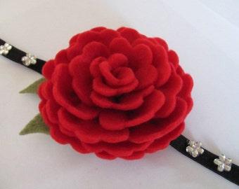 Felt Rose Pattern VIOLETTE ROSE Felt Flower Tutorial Hairclip Pattern Headband Pattern Brooch Pattern PDF Tutorial ePattern eBook How To