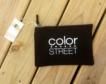 Color Street Zippered Canvas Bag