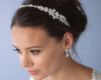 Vintage Wedding Headband, Rhinestone Bridal Headband, Bridal Hair Accessory, Bridal Headpiece, Wedding Headpiece, Bride Headband ~TI-3289