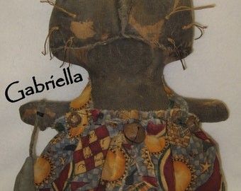 "Gabriella---Primitive 12"" Black Cat Doll IMMEDIATELY DOWNLOADABLE EPATTERN"