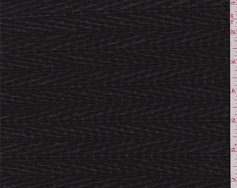 Black Burnout Wave Crinkled Polyester, Fabric By The Yard