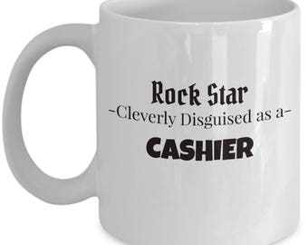 Cashier Gift Coffee Mug | Present for Cashier