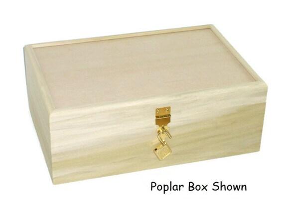 Unfinished Wood Box W Hinges Amp Lock 10 3 4 X7 1 4 X