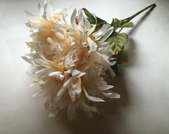 7 bloom off white / cream mum bouquet  (R10)