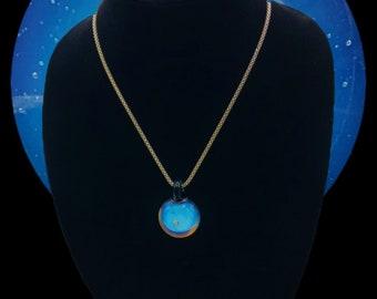 Moonstone Pendant w. encased Opal