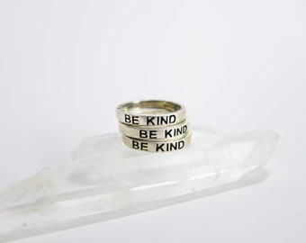 Be Kind- Stacker Ring