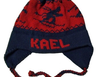 Personalized Earflap Hat - Skiers