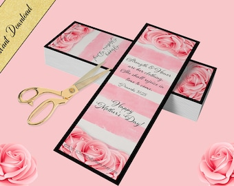 DIY Printable Bookmark, MOTHERS DAY, Proverbs 31:25,Religious Bible Bookmark, Instant Download