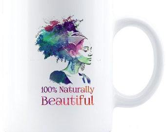 Naturally Beautiful Coffee Mug - White
