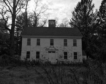 "Abandoned House - (14"" x 11"") Black and White - Photograph - FREE Shipping!"