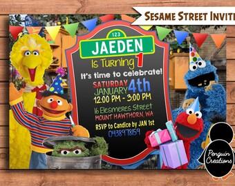Sesame Street Birthday Invitation. Sesame Steet Birthday. Sesame Street Birthday Invite