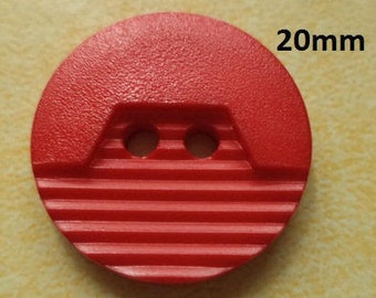 10 Buttons Red 20 mm (1322) knob