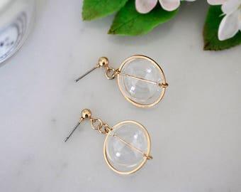 Glass bubble earrings