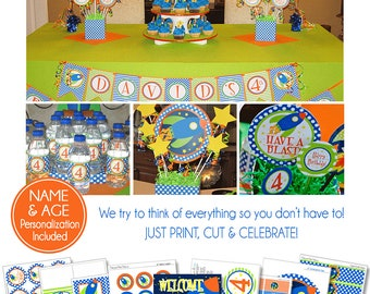 Space Birthday Decorations | Space Party Printables | Rocket Party | Outer Space Birthday | Boy 1st Birthday | Amanda's Parties To Go