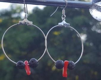 Boho Hoops Lava Earrings