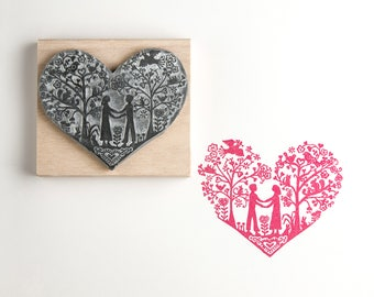 You and Me Valentine's Rubber Stamp