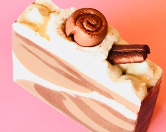 Sale*Gooey Cinnamon Rolls, Handmade Cold Process Bar Soap with Coconut Milk and Shea Butter