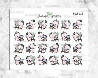 BUJI 226 | Answering Emails / Replying Messages | Hand-drawn Planner Stickers